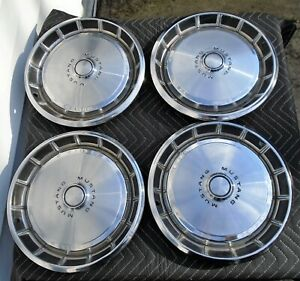 1971 72 73 Ford Mustang 14 Hubcaps Wheel Covers Oem Fomoco Set Of 4