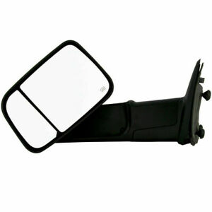 New Driver Side Power Operated Towing Mirror Black For Dodge Ram 1500 2009 2012