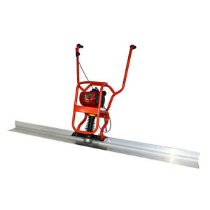 37 7cc 4 Stroke Gas Concrete Wet Screed Power Screed Cement 6 56ft Board New