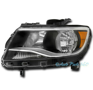 For 15 16 17 Chevy Colorado Halogen Replacement Headlight Lamp Black Driver Left