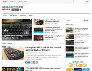 Gaming Keyboard Review Blog Established Profitable Turnkey Wp Website For Sale