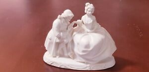 Antique Bisque Porcelain Figurine Courting Couple Germany Figurine