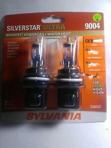 1 Pr Sylvania Silverstar Ultra 9004 Dual Beam Headlight Bulbs 45 65w New