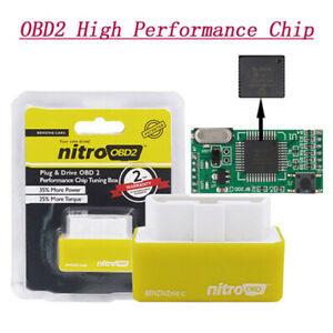 Car Nitro Obd2 Performance Tuning Chip Box For Save Gas petrol Vehicle Plug play