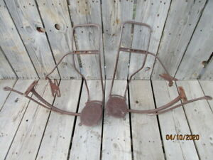 Star Horse Or Horseless Carriage Buggy Steps And Leather Fabric Fender Frames