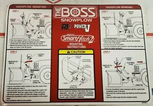 Boss Msc04606 5 Rt3 V Blade With Smarthitch 2 Mounting Instructions Plow Decal