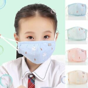 Kids Mouth Mask Breathable Cotton Protective