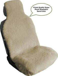 Sheepskin Seat Cover Seat Wrap One Super Plush Top Quality Australian Sand