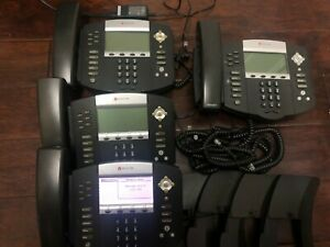 Polycom Soundpoint Ip650 Voip Office Business Lot Of 4 Sip Network Telephones