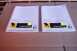 Sheet Protectors Clear Letter Size Top Loading Standard Weight Lot Of 300 S6428