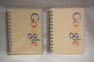 Google Logo Multi color Small Spiral Paper Notebooks Lined New Lot Of 2 S8405
