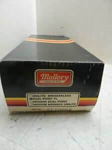 Mallory Dust Proof Dual Point Distributor 66 69 Chevy 427 Very Rare Mint Nos