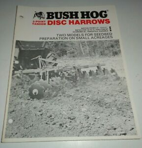 Bush Hog 1424 1423 Disc Harrow Sales Brochure Literature Disc Bh 49 5 6 To 9 3