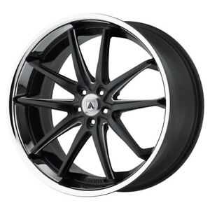 4 New 20x10 Asanti Black Altair Matte Black Milled Ss Lip Wheel rim 5x114 3 Et38
