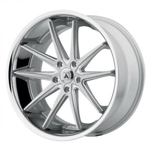 4 New 20x10 Asanti Black Altair Silver Machined Ss Lip Wheel rim 5x112 Et45