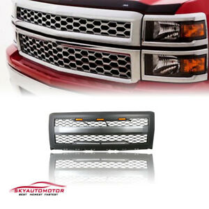 Fits Chevy Silverado 1500 2014 2015 Front Upper Grille Grill With Lights letters