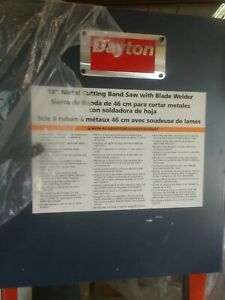 Dayton 18 Metal Cutting Band Saw