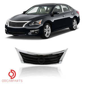 Fits 2013 2014 2015 Nissan Altima Front Upper Grille Grill Chrome Factory Style
