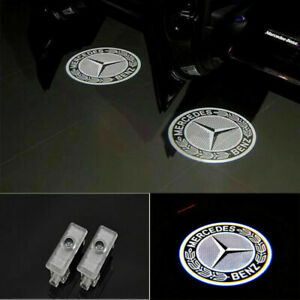 2pcs Led Projector Ghost Shadow Door Lights For Mercedes Benz Cls Cla