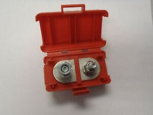 Red 5 16 Stud Dual Terminal Block Covered Lid Battery Junction Box Distribution