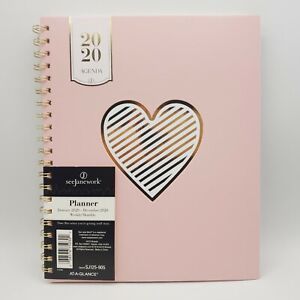 See Jane Work Pink Planner 2020 Heart Of Gold Weekly monthly Planner 9 X 11