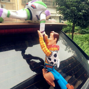 Toy Story Sherif Woody Buzz Lightyear Car Dolls Outside Hang Toy Car Decoration