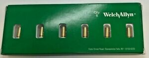 Box Of 6 Welchallyn 04900 u6 3 5v Halogen Lamp Replacement Bulb New