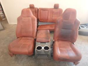 Ford F250 F350 Front Rear Seat Set King Ranch Leather 09 10 11 12 13 14 15 16