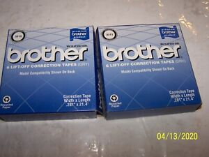 Lot Of 2 New Genuine Brother 3015 6pk Lift off Correction Tape Dry one Partial