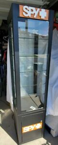 Spy Sunglass Display Case Black With Key Storage And Led Lighting