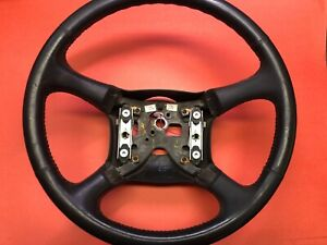 2000 2002 Gm Chevy Silverado Suburban Tahoe Steering Wheel Leather Used Oem