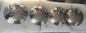 4 New 1937 38 Chevy 1 2 3 4 Ton Truck Stainless Hubcaps