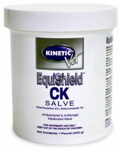 Kinetic Equishield Ck Salve Anti septic Water Soluble Horse Dog Cat 1 Pound