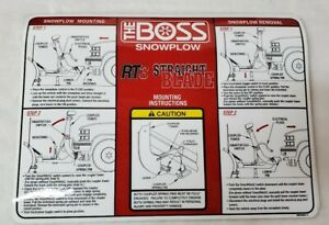 Boss Msc04607 5 Rt3 Straight Blade Smarthitch2 Mounting Instructions Plow Decal