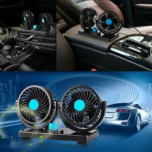 12v Fan Cooling Air Fan Powerful Dashboard Electric Car Fan Low Noise 360 Degree
