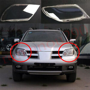 For Mitsubishi Outlander 2003 2006 Left Front Right Front Headlight Lens Cover