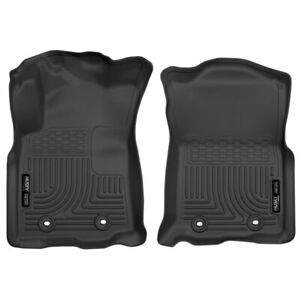 Husky Weatherbeater Front Floor Mats Blk For Toyota Tacoma 18 20 Automatic Trans