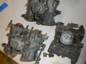 Solex 40phh Twin Side Draft Carburetors Set Of 3 All 3 Need Rebuilding As Is