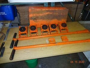 Multiton Machinery Rigging Skates 6 Swivel Polyurethane Rollers Great Conditio