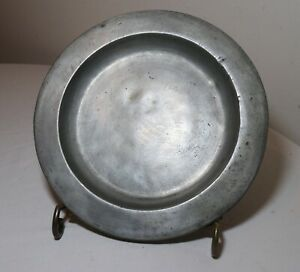 Rare Antique 18th Century Nyc American Forged Pewter Dinner Plate Dish