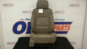 15 Gmc Sierra 1500 Front Right Passenger Power Seat Tan Leather