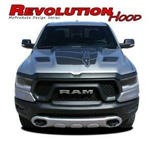 For 2019 2020 Dodge Ram Hood Stripes Rebel 1500 Decals 3m Vinyl Graphics Kit