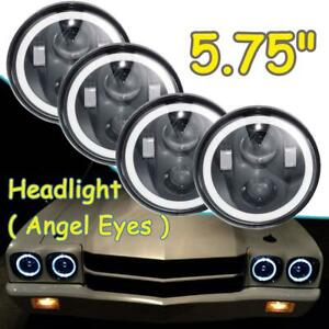 Dot 5 75 5 3 4 Round Led Headlights 4pc Halo Drl For Chrysler Imperial 1962 1975