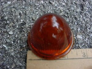 40s 50s Maybe Amber Glass Marker Clearance Park Lamp Lens