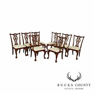 Pennsylvania House Chippendale Style Set 8 Cherry Wood Dining Chairs