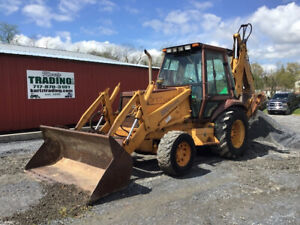 1993 Case 580sk 4x4 Tractor Loader Backhoe W Cab Extend a hoe Only 1000hrs