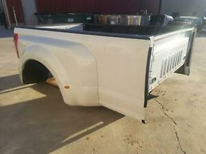 2017 2019 Ford F350 Used White Dually Bed 2018 Superduty No Gate Or Lights