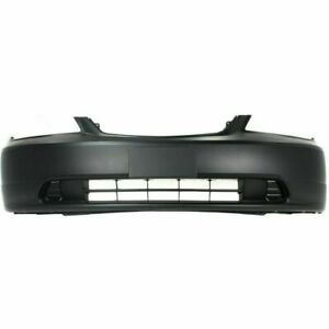 New Front Bumper Cover Primed With Plate Provision For Honda Civic 2001 2003