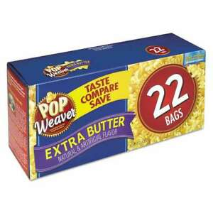 Pop Weaver Microwave Popcorn Extra Butter 2 5oz Bag 22 box 041667055125