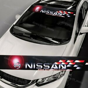 Front Window Windshield Black Vinyl Banner Decal Sticker For Nismo Nissan Motor